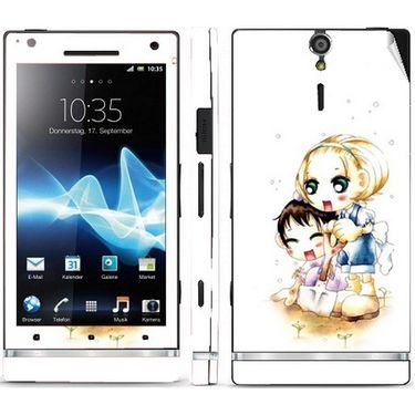 Snooky 39697 Digital Print Mobile Skin Sticker For Sony Xperia S - White