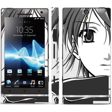 Snooky 39698 Digital Print Mobile Skin Sticker For Sony Xperia S - Grey