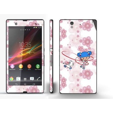 Snooky 39736 Digital Print Mobile Skin Sticker For Sony Xperia Z - White