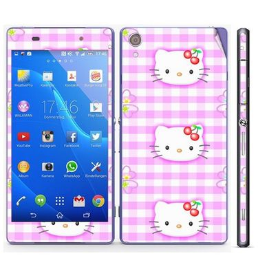 Snooky 39752 Digital Print Mobile Skin Sticker For Sony Xperia Z2 - Pink