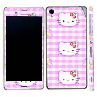Snooky 39764 Digital Print Mobile Skin Sticker For Sony Xperia Z3 - Pink