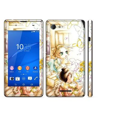 Snooky 39797 Digital Print Mobile Skin Sticker For Sony Xperia E3 Dual - White