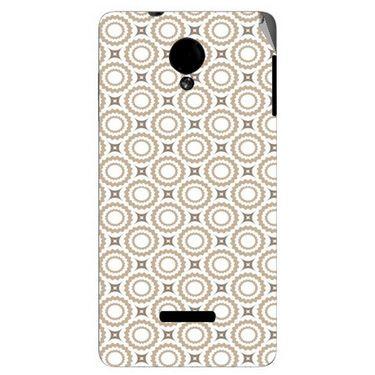 Snooky 40277 Digital Print Mobile Skin Sticker For Micromax Canvas Fun A74 - Brown