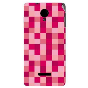 Snooky 40283 Digital Print Mobile Skin Sticker For Micromax Canvas Fun A74 - Purple