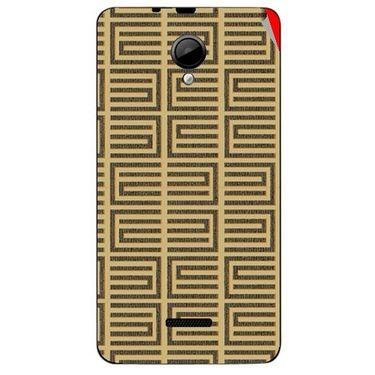 Snooky 40294 Digital Print Mobile Skin Sticker For Micromax Canvas Fun A76 - Brown