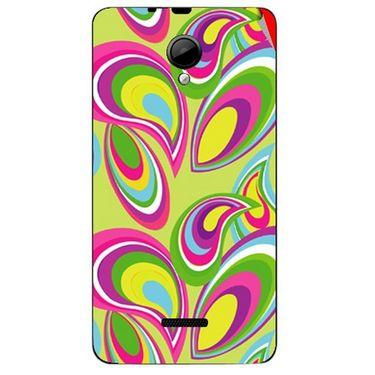 Snooky 40295 Digital Print Mobile Skin Sticker For Micromax Canvas Fun A76 - multicolour