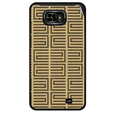 Snooky 40336 Digital Print Mobile Skin Sticker For Micromax Superfone Pixel A90 - Brown