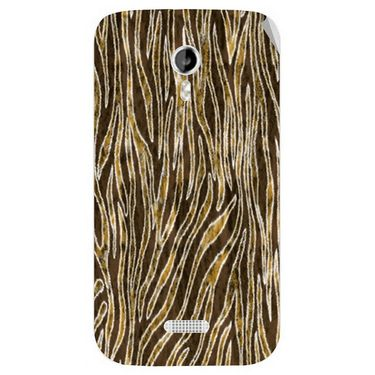Snooky 40349 Digital Print Mobile Skin Sticker For Micromax Canvas Lite A92 - Brown