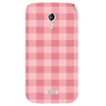 Snooky 40352 Digital Print Mobile Skin Sticker For Micromax Canvas Lite A92 - Pink