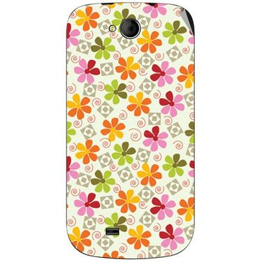 Snooky 40362 Digital Print Mobile Skin Sticker For Micromax Canvas Elanza A93 - White