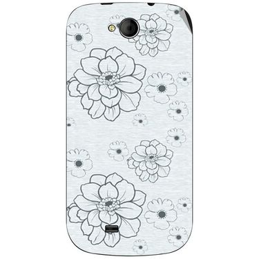 Snooky 40371 Digital Print Mobile Skin Sticker For Micromax Canvas Elanza A93 - Grey