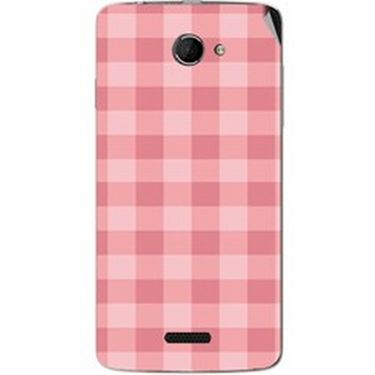 Snooky 40436 Digital Print Mobile Skin Sticker For Micromax Canvas Elanza 2 A121 - Pink