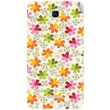 Snooky 40572 Digital Print Mobile Skin Sticker For Micromax Canvas XL2 A109 - White