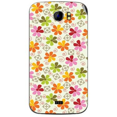 Snooky 40586 Digital Print Mobile Skin Sticker For Micromax Canvas 2 A110 - White