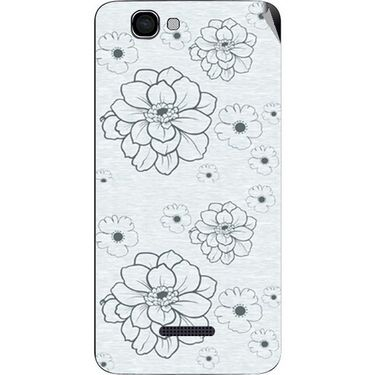 Snooky 40651 Digital Print Mobile Skin Sticker For Micromax Canvas 2 Colors A120 - Grey