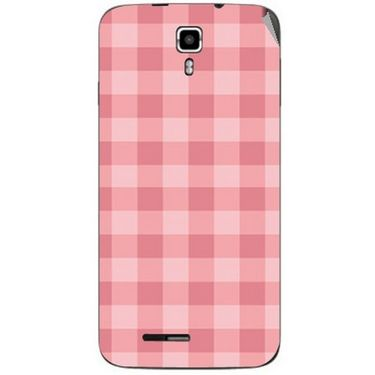 Snooky 40660 Digital Print Mobile Skin Sticker For Micromax Canvas Juice A177 - Pink