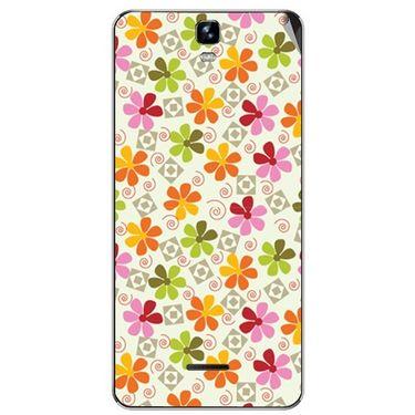 Snooky 40670 Digital Print Mobile Skin Sticker For Micromax Canvas HD Plus A190 - White