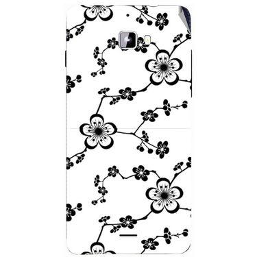 Snooky 40734 Digital Print Mobile Skin Sticker For Micromax Canvas Nitro A310 - White