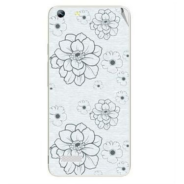 Snooky 40763 Digital Print Mobile Skin Sticker For Micromax Canvas Hue AQ5000 - Grey