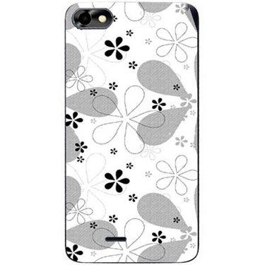 Snooky 40778 Digital Print Mobile Skin Sticker For Micromax Bolt D321 - White