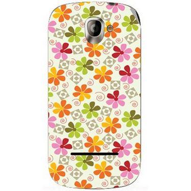Snooky 40810 Digital Print Mobile Skin Sticker For XOLO A500 - White