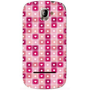 Snooky 40817 Digital Print Mobile Skin Sticker For XOLO A500 - Pink