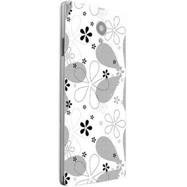 Snooky 40834 Digital Print Mobile Skin Sticker For XOLO A500 Club - White
