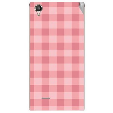 Snooky 40884 Digital Print Mobile Skin Sticker For XOLO A550S IPS - Pink