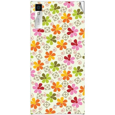 Snooky 40992 Digital Print Mobile Skin Sticker For XOLO Q600S - White