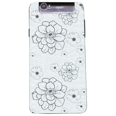 Snooky 41183 Digital Print Mobile Skin Sticker For XOLO Q3000 - Grey
