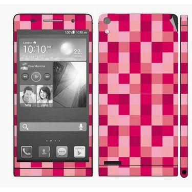 Snooky 41291 Digital Print Mobile Skin Sticker For Huawei Ascend P6 - Purple