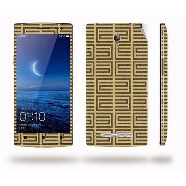 Snooky 41302 Digital Print Mobile Skin Sticker For OPPO Find 7 X9076 - Brown
