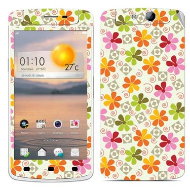 Snooky 41314 Digital Print Mobile Skin Sticker For OPPO N1 Mini - White
