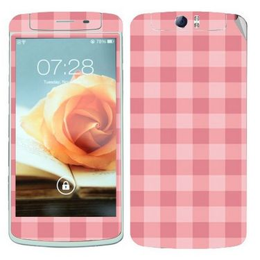 Snooky 41332 Digital Print Mobile Skin Sticker For OPPO N1 - Pink