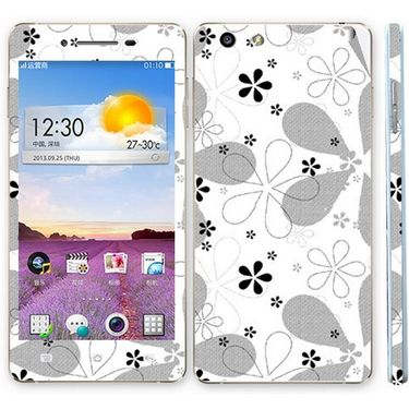 Snooky 41352 Digital Print Mobile Skin Sticker For OPPO R1 R829t - White