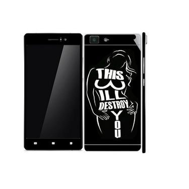 Snooky 41353 Digital Print Mobile Skin Sticker For OPPO R5 - Black