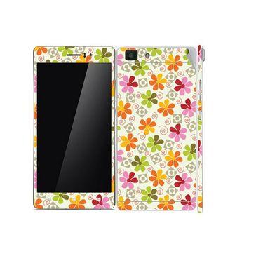 Snooky 41356 Digital Print Mobile Skin Sticker For OPPO R5 - White
