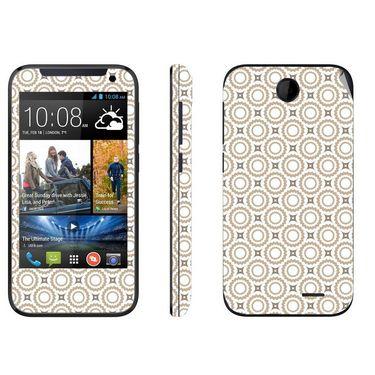 Snooky 41369 Digital Print Mobile Skin Sticker For HTC Desire 310 - Brown