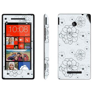 Snooky 41435 Digital Print Mobile Skin Sticker For HTC 8X C620E - Grey