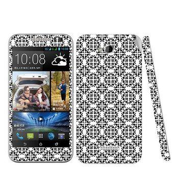 Snooky 41438 Digital Print Mobile Skin Sticker For HTC Desire 616 - White