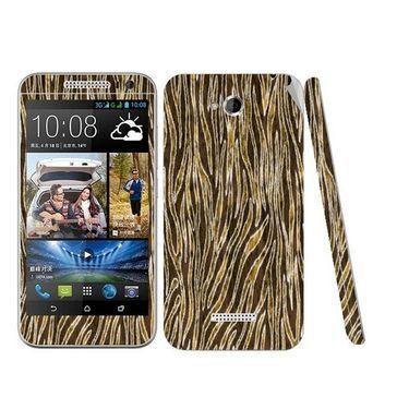 Snooky 41441 Digital Print Mobile Skin Sticker For HTC Desire 616 - Brown