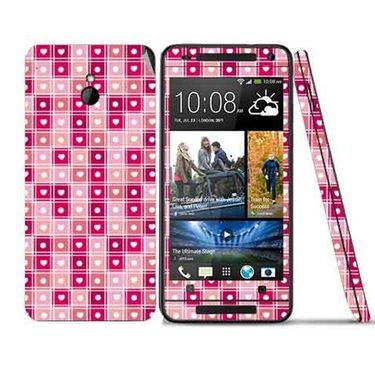 Snooky 41503 Digital Print Mobile Skin Sticker For HTC One mini - Pink