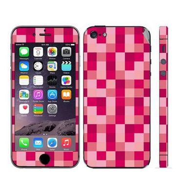 Snooky 41515 Digital Print Mobile Skin Sticker For Apple Iphone 5 - Purple