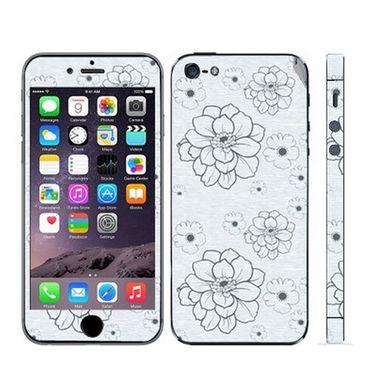 Snooky 41519 Digital Print Mobile Skin Sticker For Apple Iphone 5 - Grey
