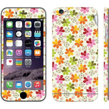 Snooky 41552 Digital Print Mobile Skin Sticker For Apple Iphone 6 Plus - White