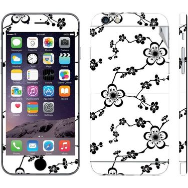 Snooky 41560 Digital Print Mobile Skin Sticker For Apple Iphone 6 Plus - White