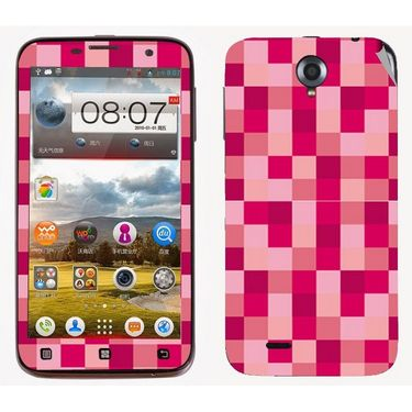 Snooky 41571 Digital Print Mobile Skin Sticker For Lenovo A850 - Purple