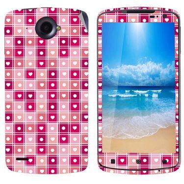 Snooky 41601 Digital Print Mobile Skin Sticker For Lenovo S920 - Pink