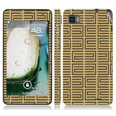 Snooky 41610 Digital Print Mobile Skin Sticker For Lenovo K860 - Brown