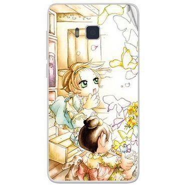 Snooky 41647 Digital Print Mobile Skin Sticker For Lava Iris 406Q - White